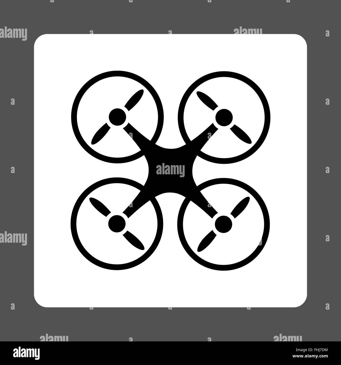 Nanocopter icon - Stock Image