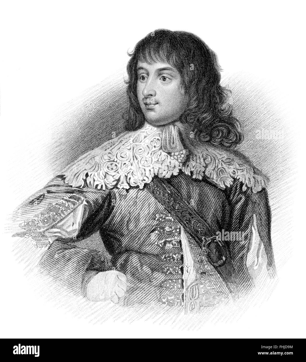 William Russell, 1st Duke of Bedford, 1616-1700, an English politician - Stock Image