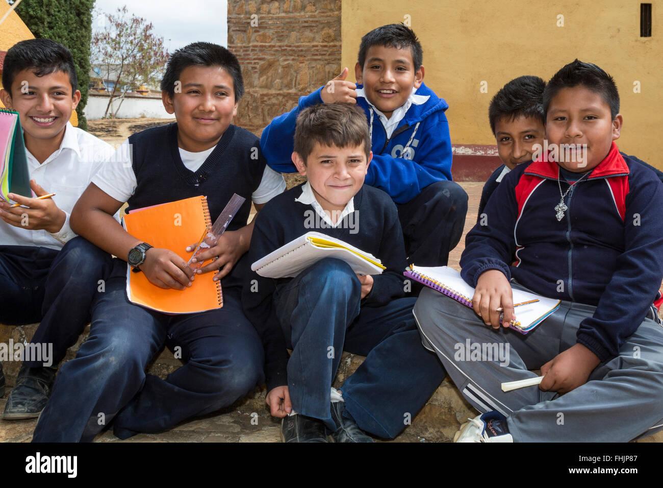 Santa Ana Zegache, Oaxaca, Mexico - Sixth grade school boys with ...