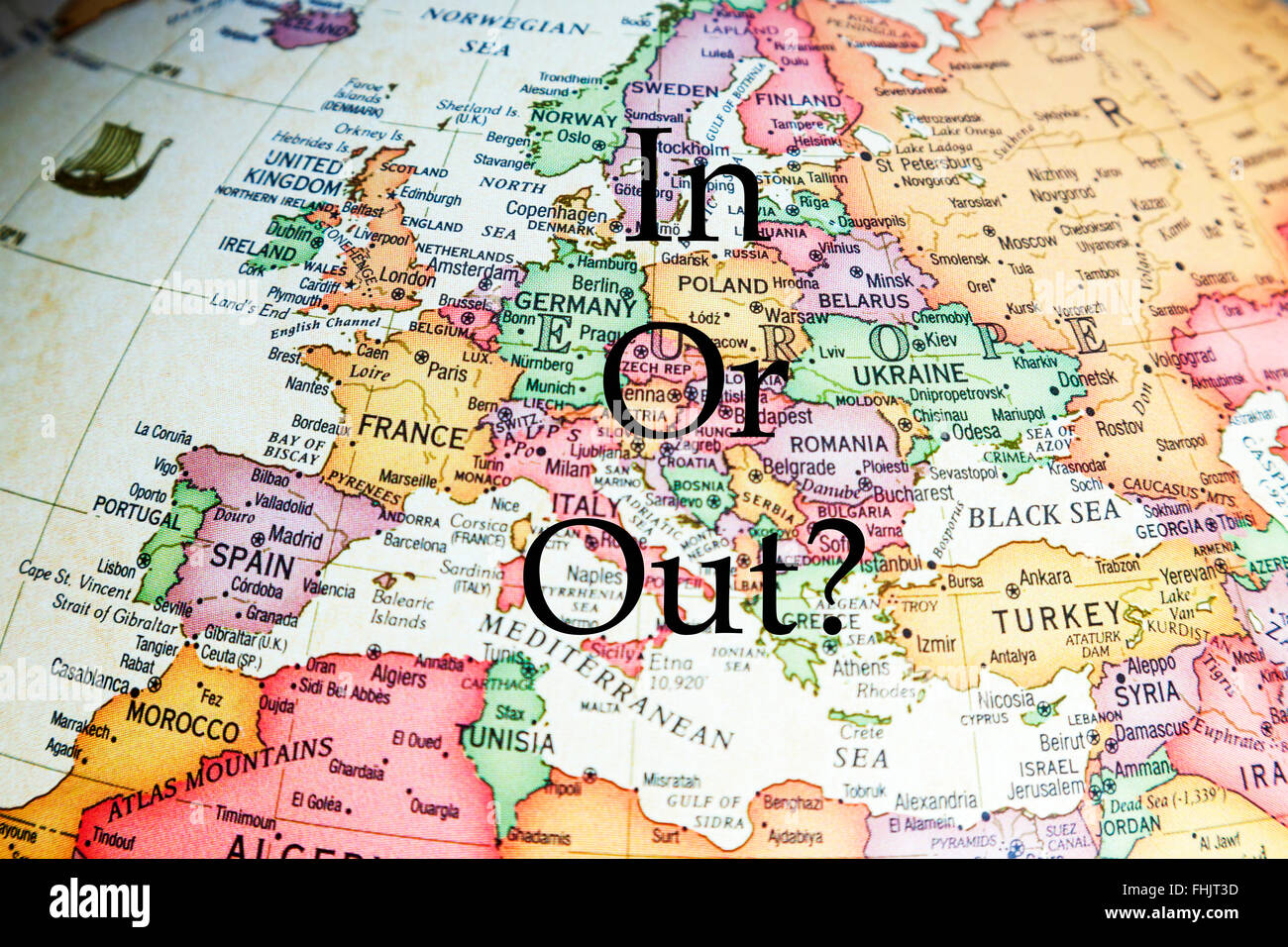 EU Referendum UK vote in or out leave stay ? voting europe poll England GB Britain leave stay choose pick decide - Stock Image