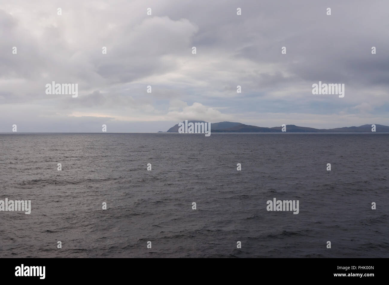 Cape Horn in the evening in cloudy weather, Chile, at 7.40pm - Stock Image