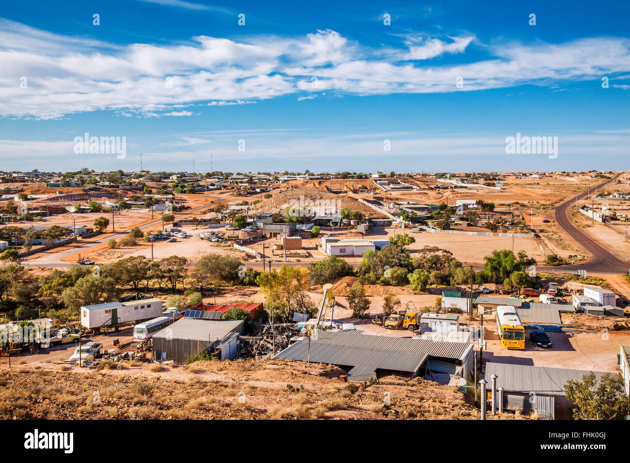 Australia, South Australia, Outback, Coober Pedy, view of the isolated opal mining town - Stock Image