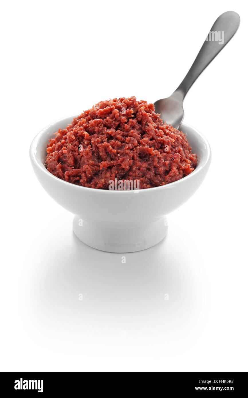 bagoong alamang, philippine fermented condiment made of krill - Stock Image