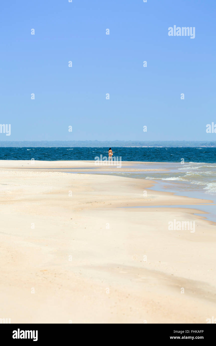 Brazil, Brazilian Amazon, Para, Alter do Chao, Ponta do Cururu beach - Stock Image