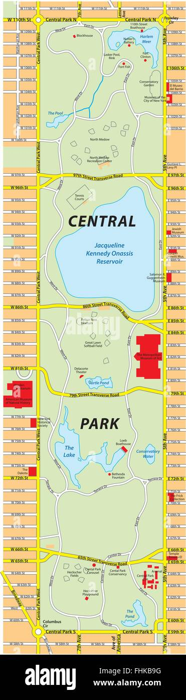 Central Park Map Nyc on