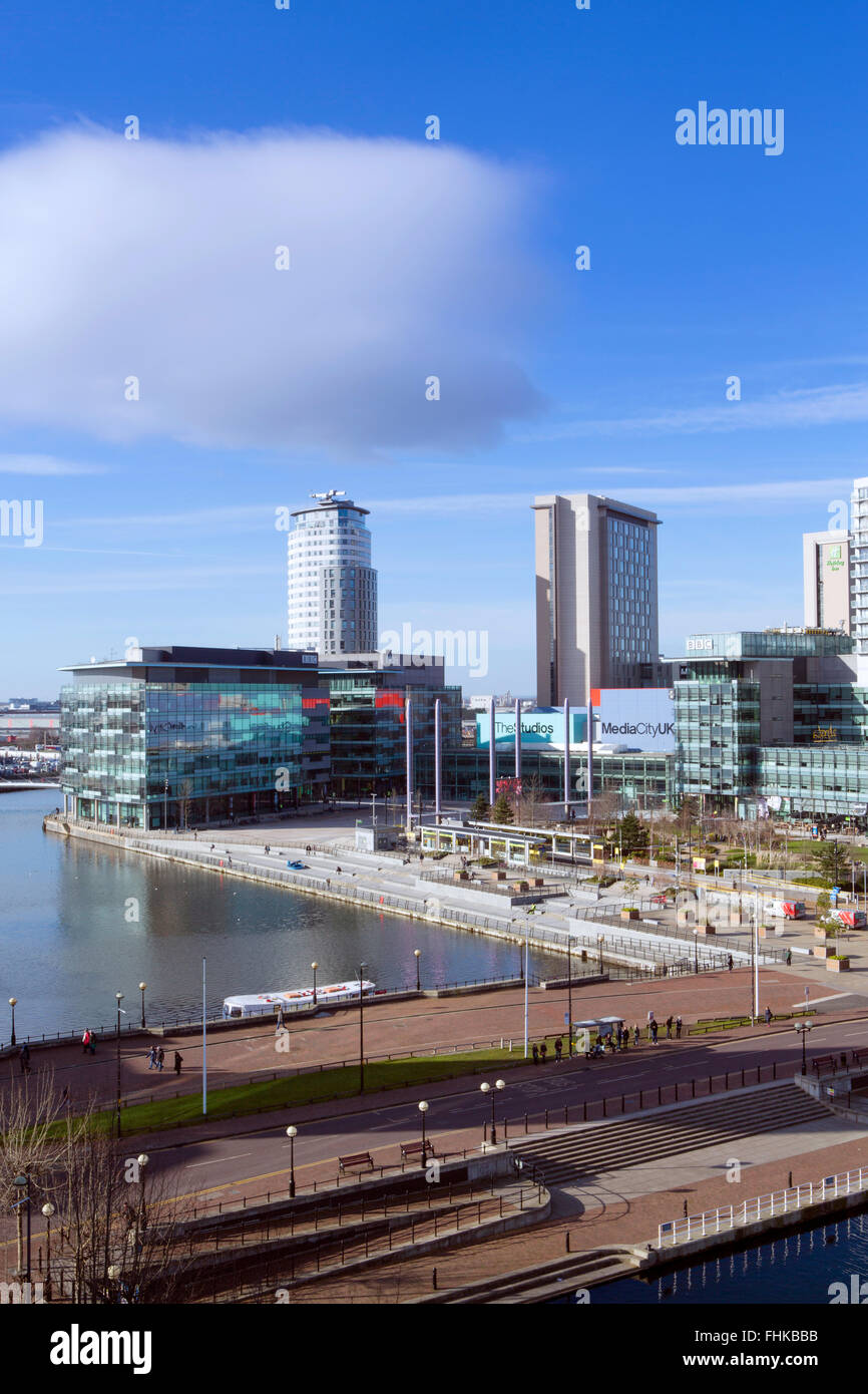 MediaCityUK  - a 200-acre mixed-use site on the banks of the Manchester Ship Canal in Salford and Trafford, Greater - Stock Image