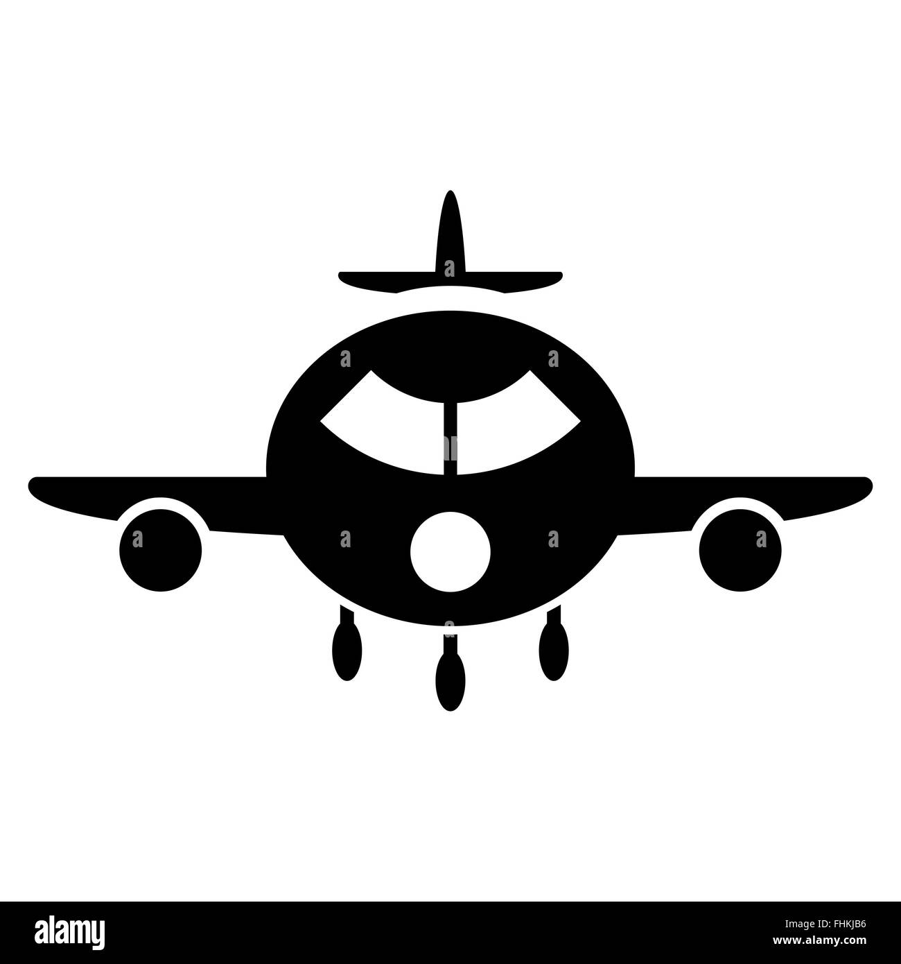 Cargo Aircraft Flat Icon - Stock Image