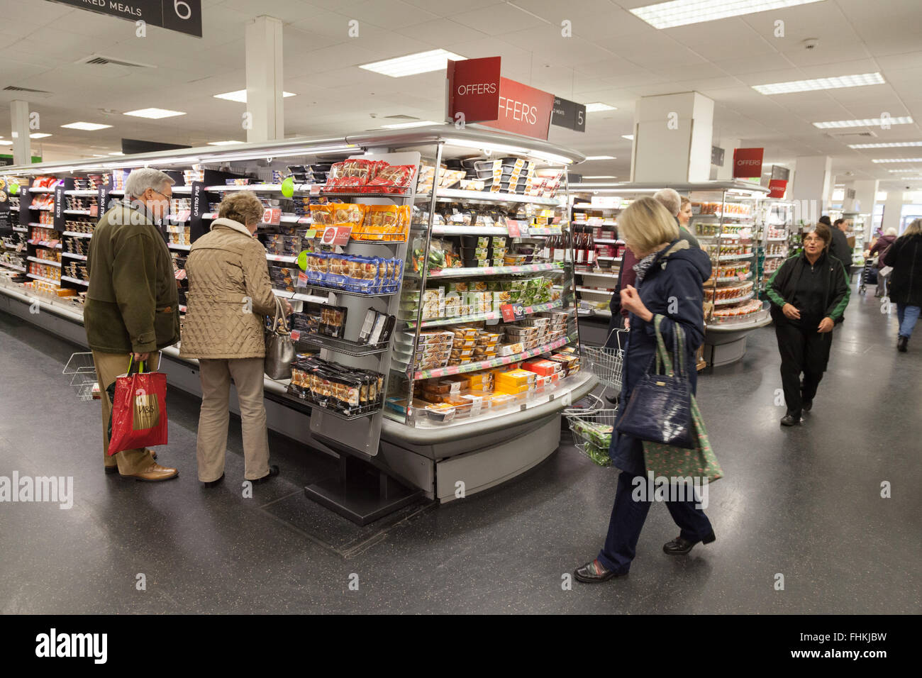 Marks and spencer cambridge stock photos marks and spencer people shopping for food in an marks and spencer ms store cambridge uk izmirmasajfo