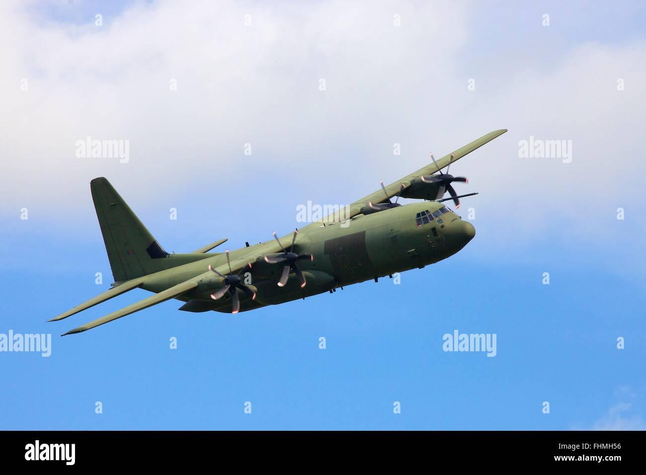 Lockheed C-130 Hercules four-engine turboprop military transport aircraft. - Stock Image