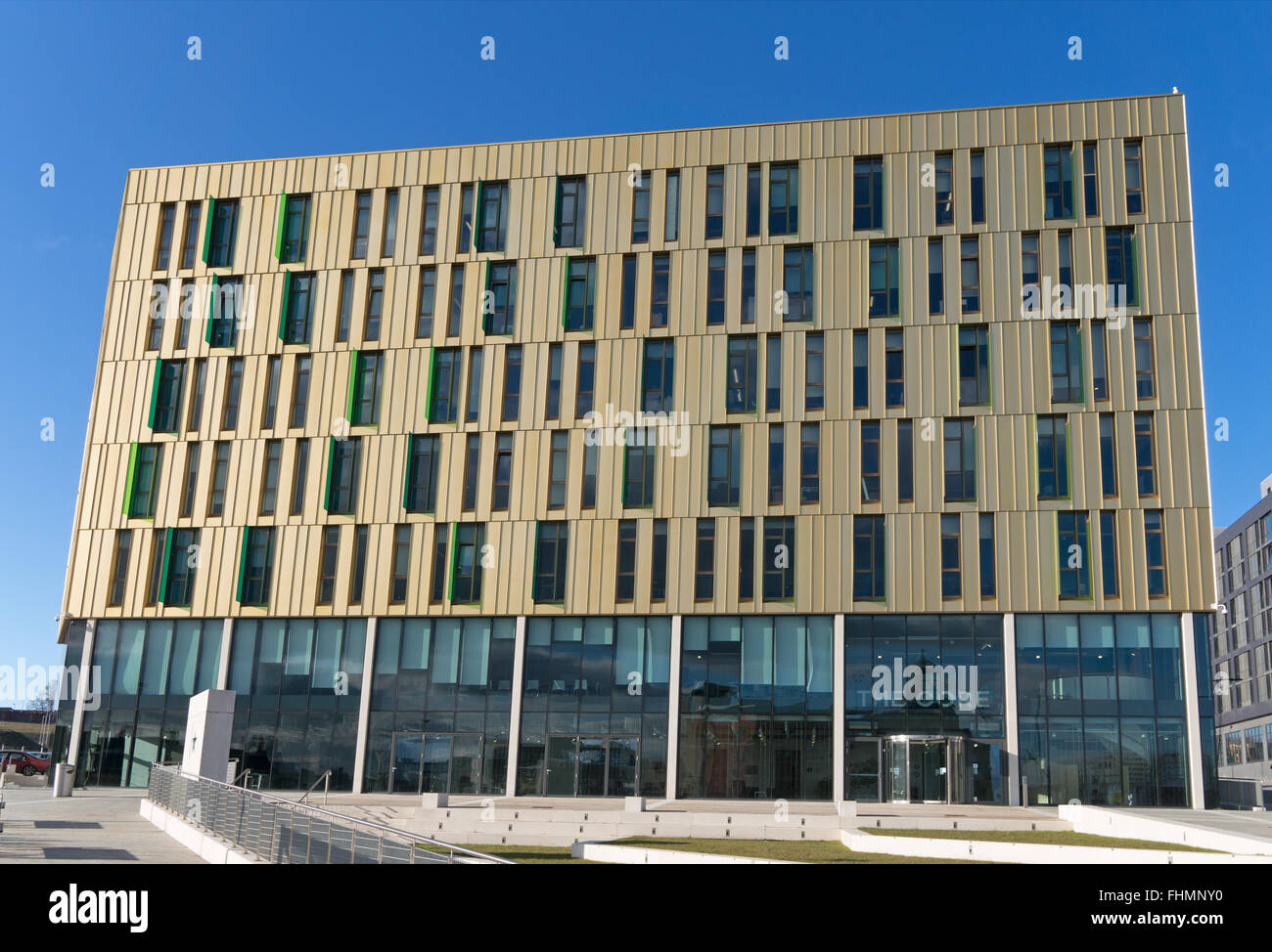 The Core a modern office building and part of Science Central in Newcastle upon Tyne, North East England, UK - Stock Image