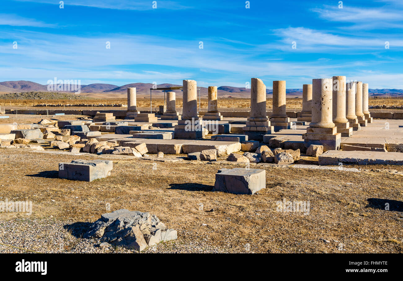 Palace of Cyrus the Great in Pasargadae - Iran - Stock Image