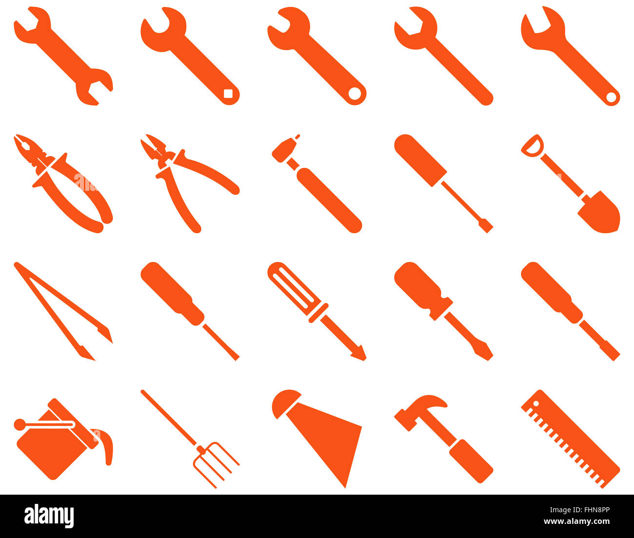 Equipment and Tools Icons - Stock Image