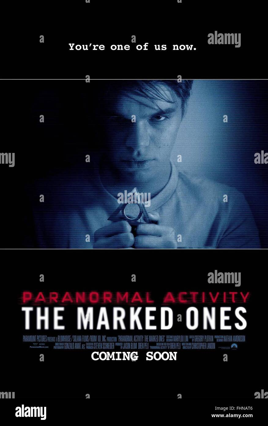 MOVIE POSTER PARANORMAL ACTIVITY: THE MARKED ONES (2014) - Stock Image