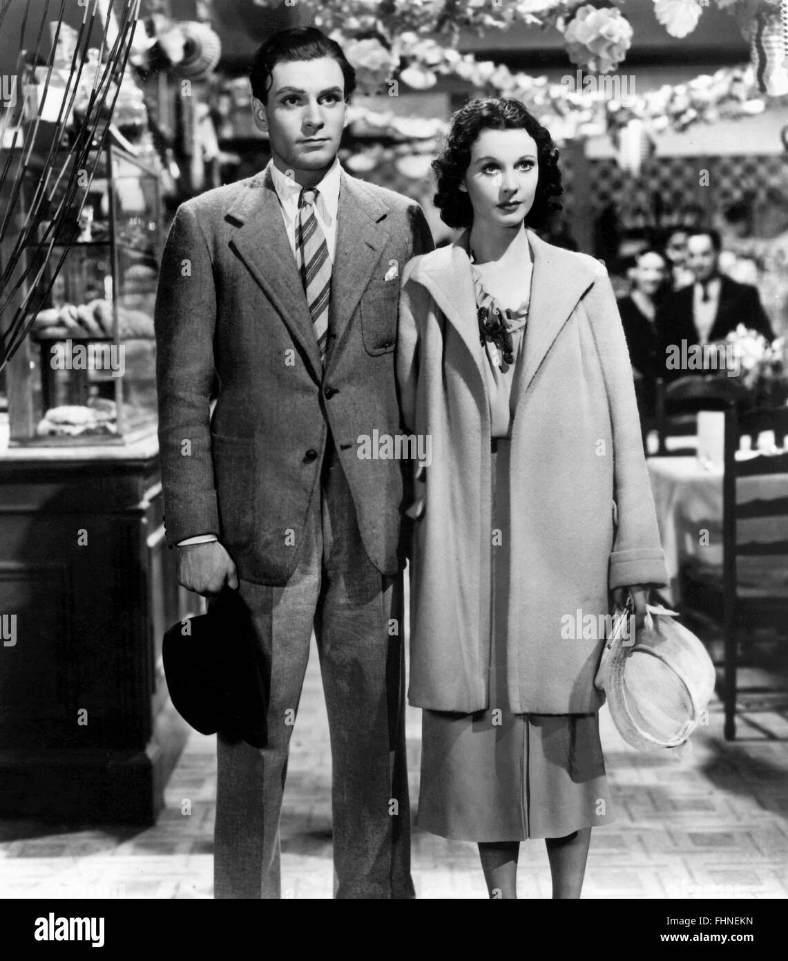 LAURENCE OLIVIER, VIVIEN LEIGH, 21 DAYS TOGETHER, 1940 - Stock Image