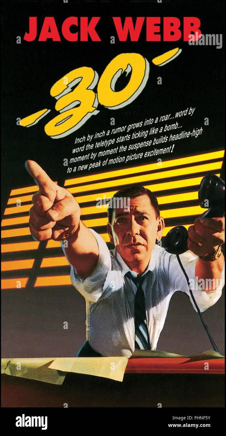 JACK WEBB -30- (1959) - Stock Image