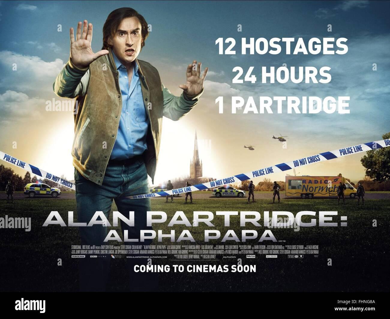 STEVE COOGAN ALAN PARTRIDGE: ALPHA PAPA (2013) - Stock Image