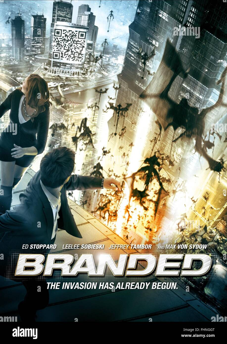 MOVIE POSTER BRANDED (2012) - Stock Image