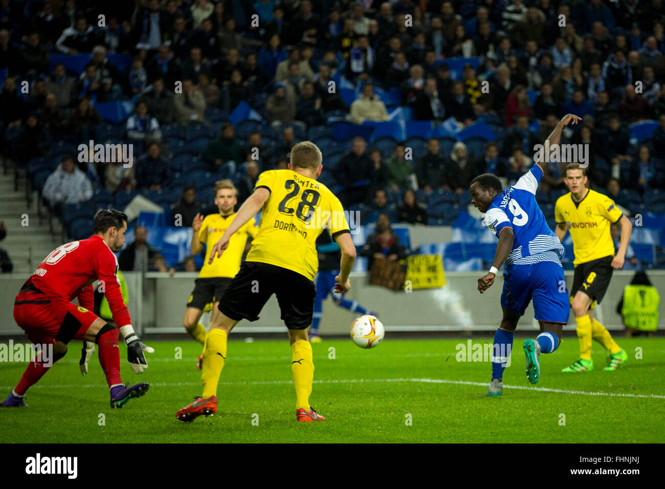 Porto, Portugal. 25th February, 2016. FC Porto's player Aboubakar during UEFA Europa League  2015/16 round 32 - Stock Image