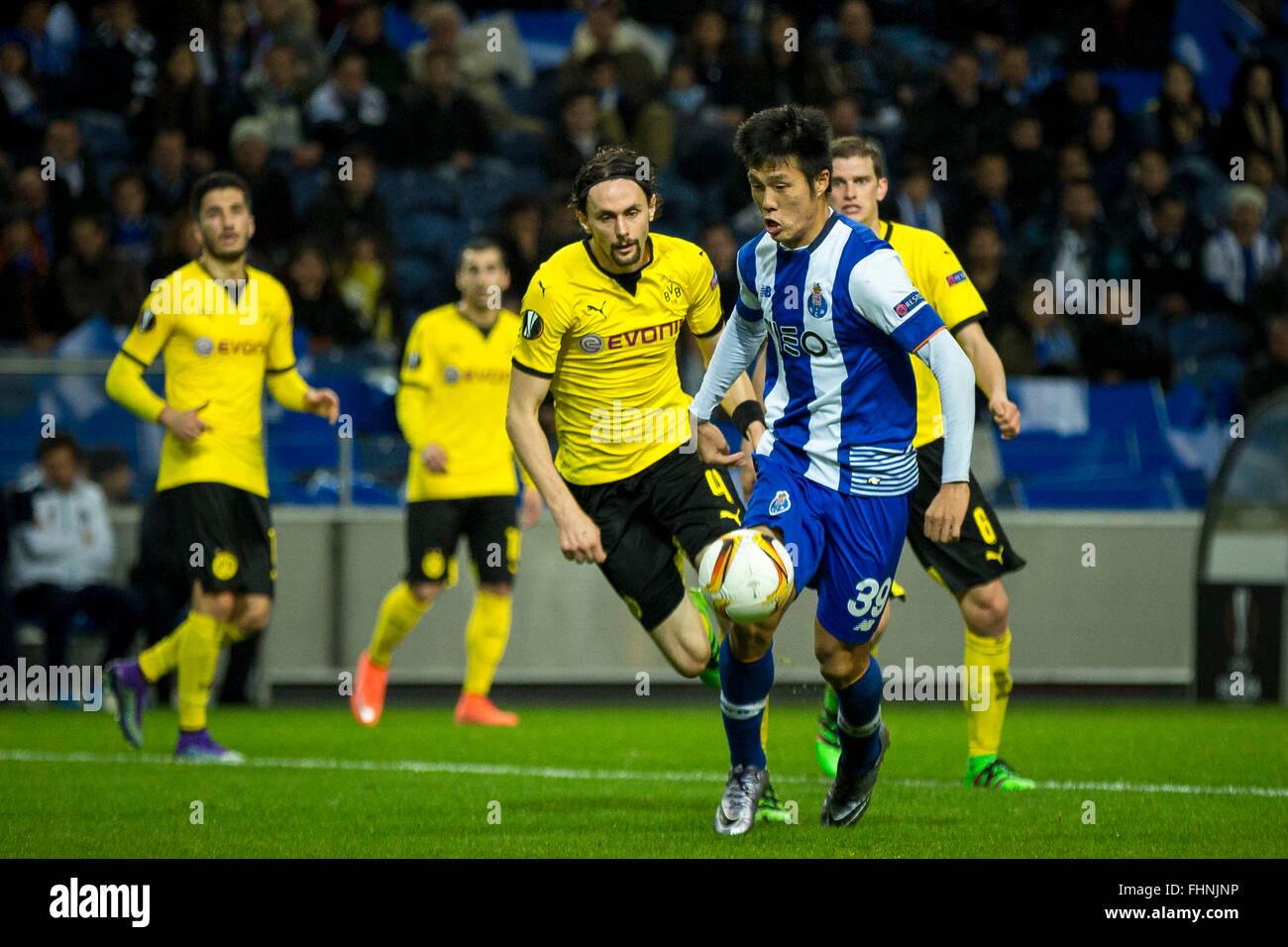 Porto, Portugal. 25th February, 2016. FC Porto's player Suk during UEFA Europa League  2015/16 round 32 second - Stock Image