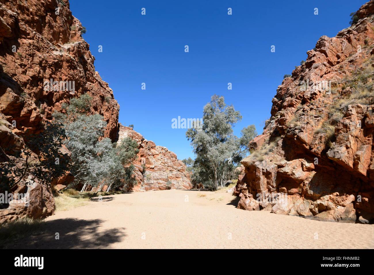 Emily Gap, MacDonnell Ranges, Northern Territory, Australia - Stock Image