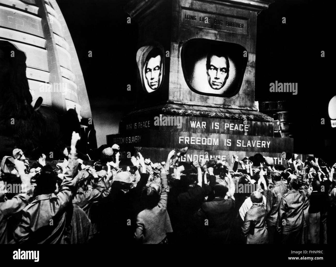 BIG BROTHER IS WATCHING SCREEN 1984; NINETEEN EIGHTY-FOUR (1956) - Stock Image