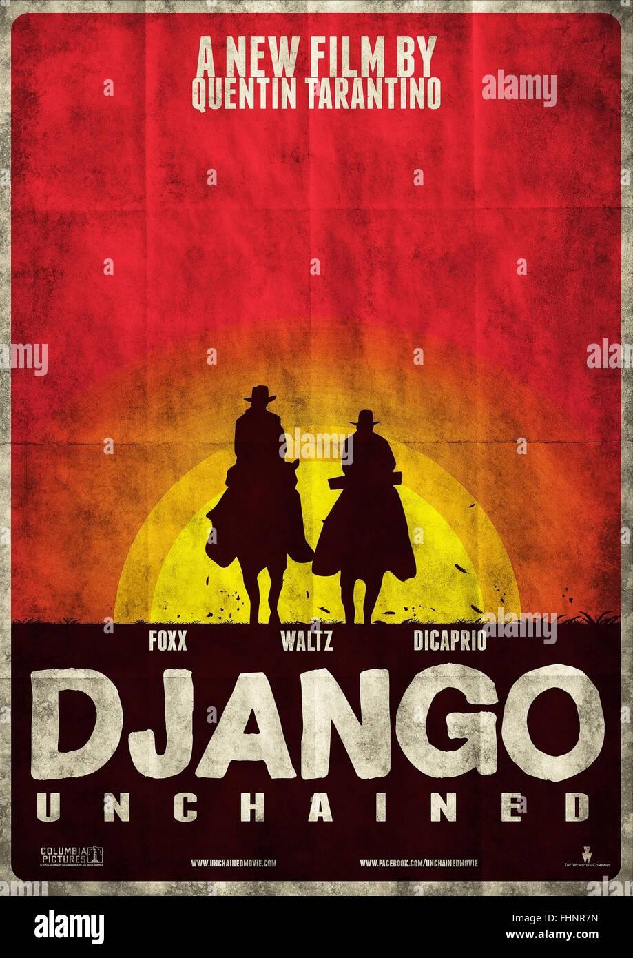 Movie Poster Django Unchained 2012 Stock Photo Alamy