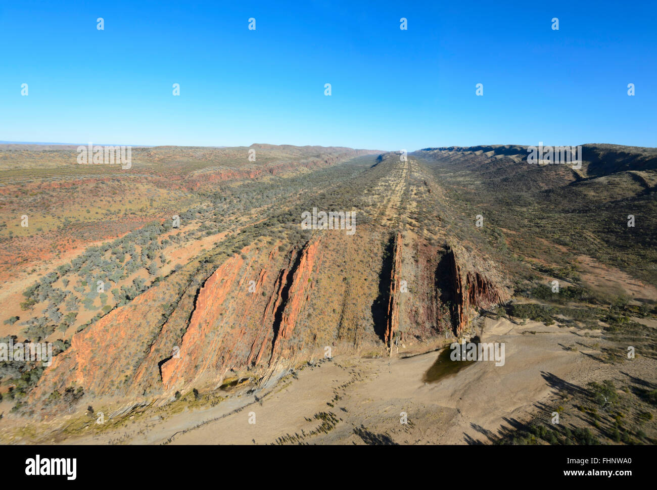 Aerial View of the West MacDonnell Ranges, Northern Territory, Australia Stock Photo
