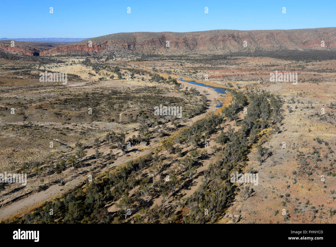 Aerial View of the West MacDonnell Ranges, Northern Territory, Australia - Stock Image