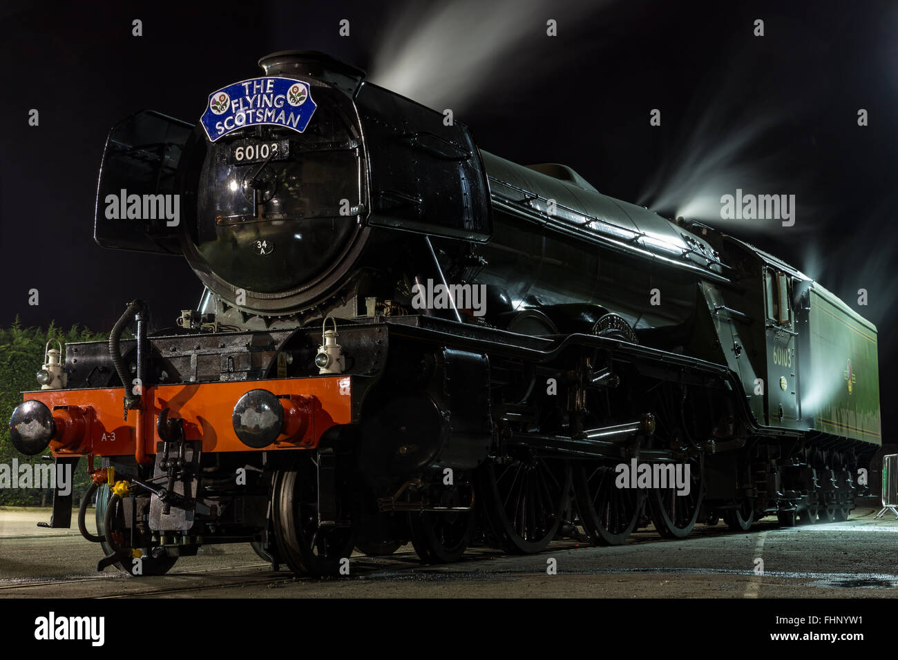 The Flying Scotsman, National Railway Museum in York - Stock Image