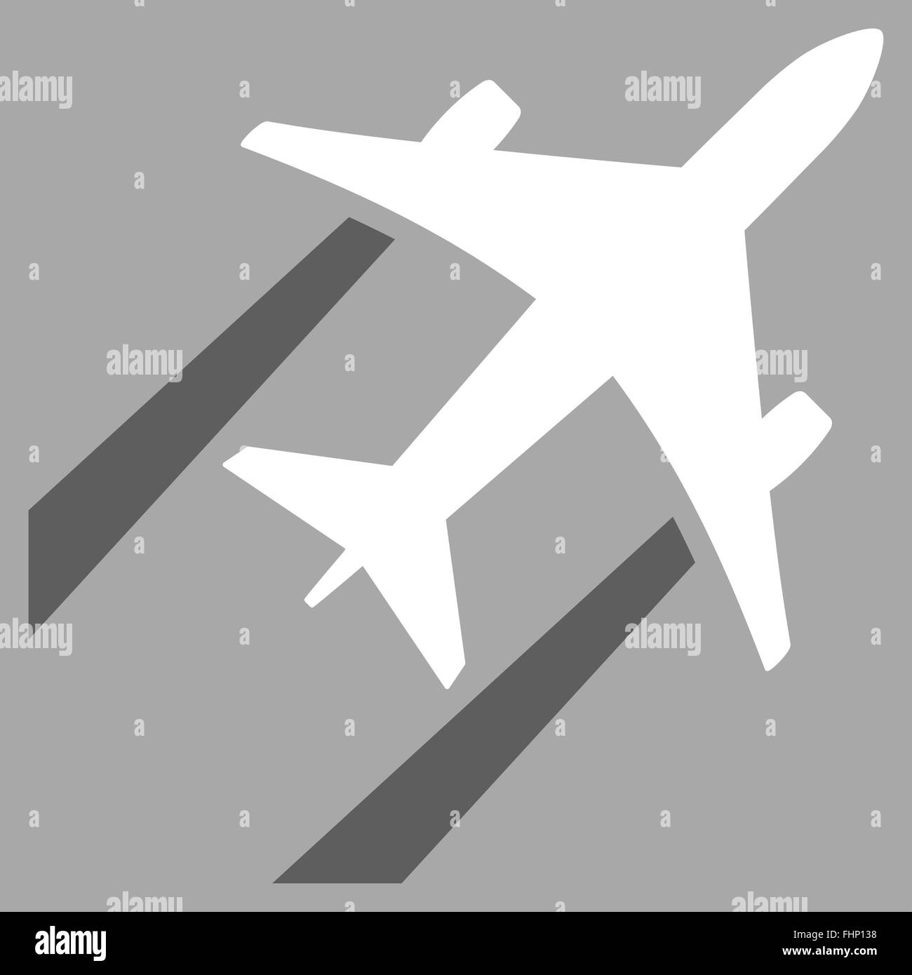 Air Jet Trace Flat Icon - Stock Image