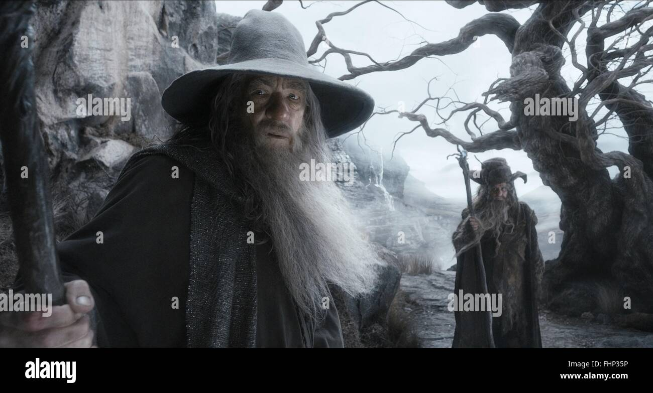 IAN MCKELLEN & SYLVESTER MCCOY THE HOBBIT: THE DESOLATION OF SMAUG (2013) - Stock Image