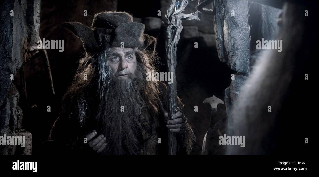 SYLVESTER MCCOY THE HOBBIT: THE DESOLATION OF SMAUG (2013) - Stock Image