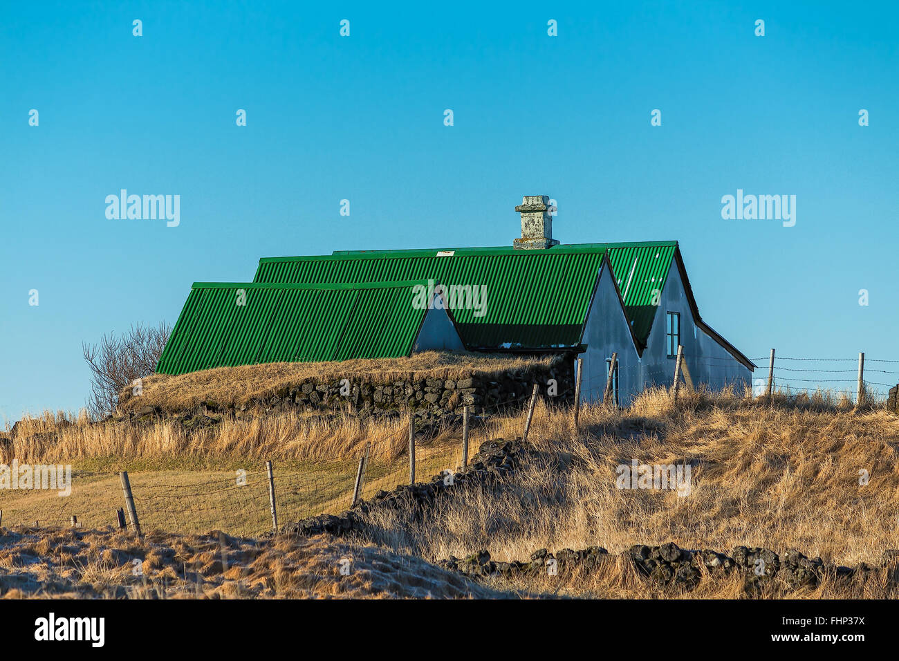 old abandoned farm in Iceland - Stock Image