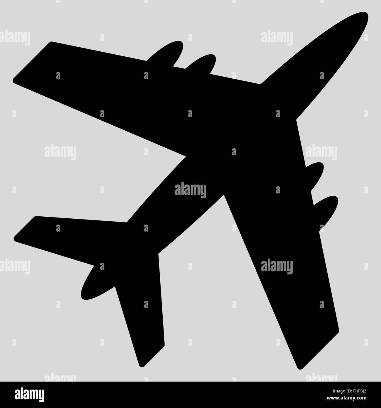 Aircraft Flat Icon - Stock Image