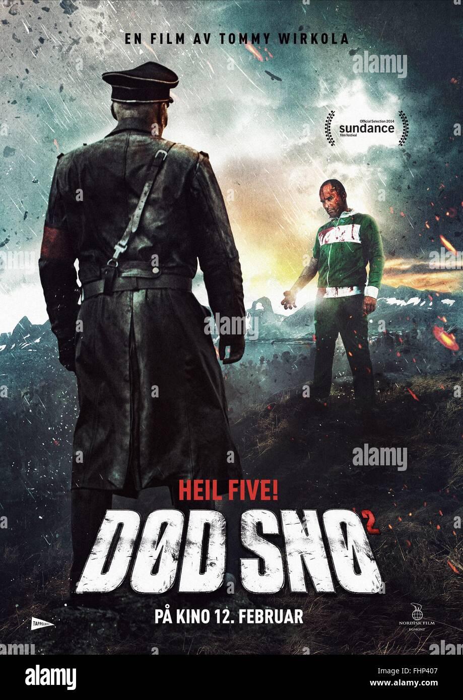 MOVIE POSTER DEAD SNOW 2: RED VS. DEAD; DØD SNØ 2; DOD SNO 2 (2014) - Stock Image