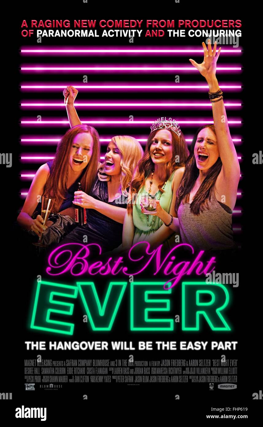 MOVIE POSTER BEST NIGHT EVER (2013) - Stock Image