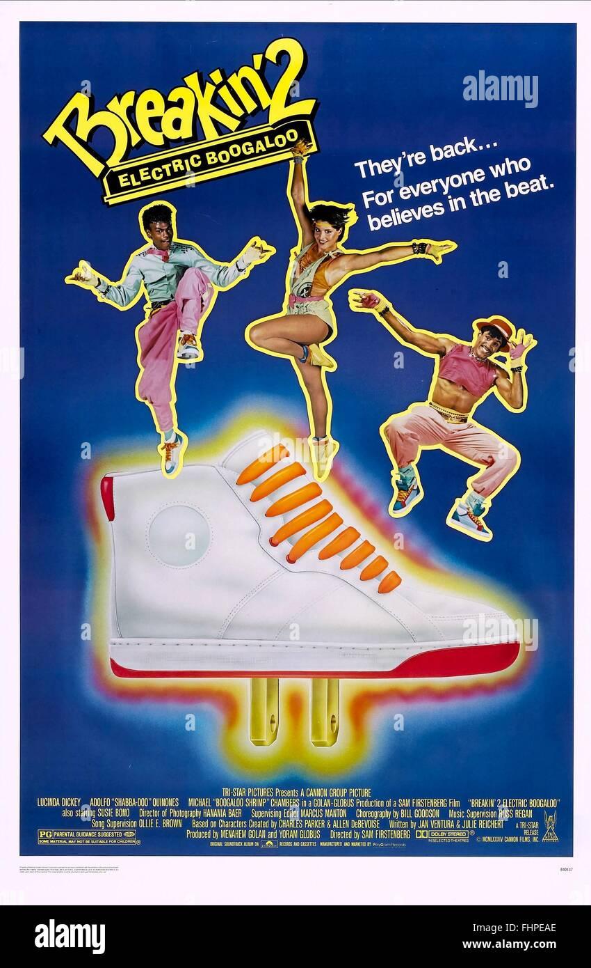 MICHAEL CHAMBERS LUCINDA DICKEY ADOLFO QUINONES POSTER BREAKIN' 2: ELECTRIC BOOGALOO (1984) - Stock Image