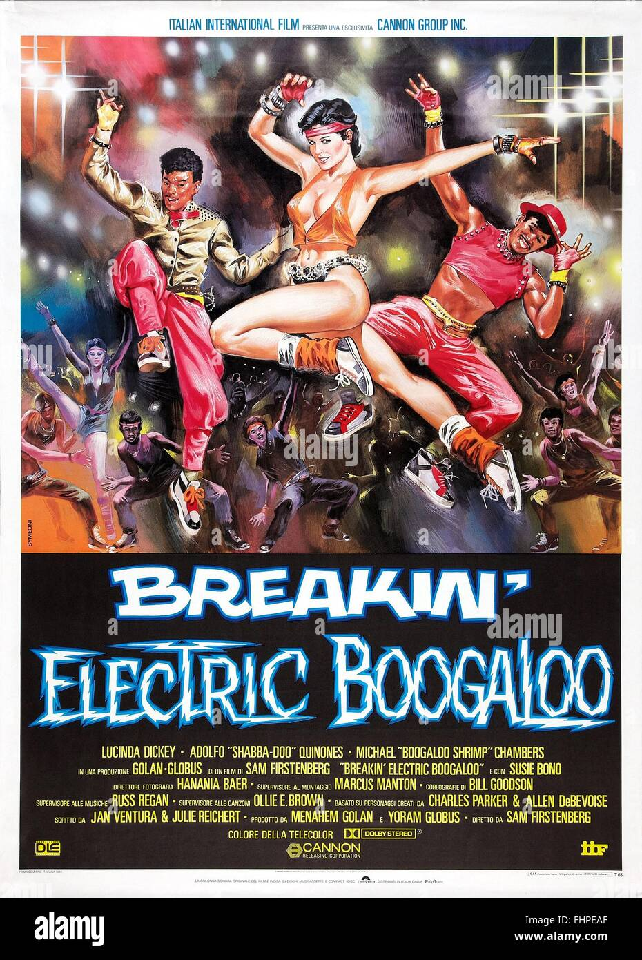 MICHAEL CHAMBERS LUCINDA DICKEY & ADOLFO QUINONES POSTER BREAKIN' 2: ELECTRIC BOOGALOO (1984) - Stock Image