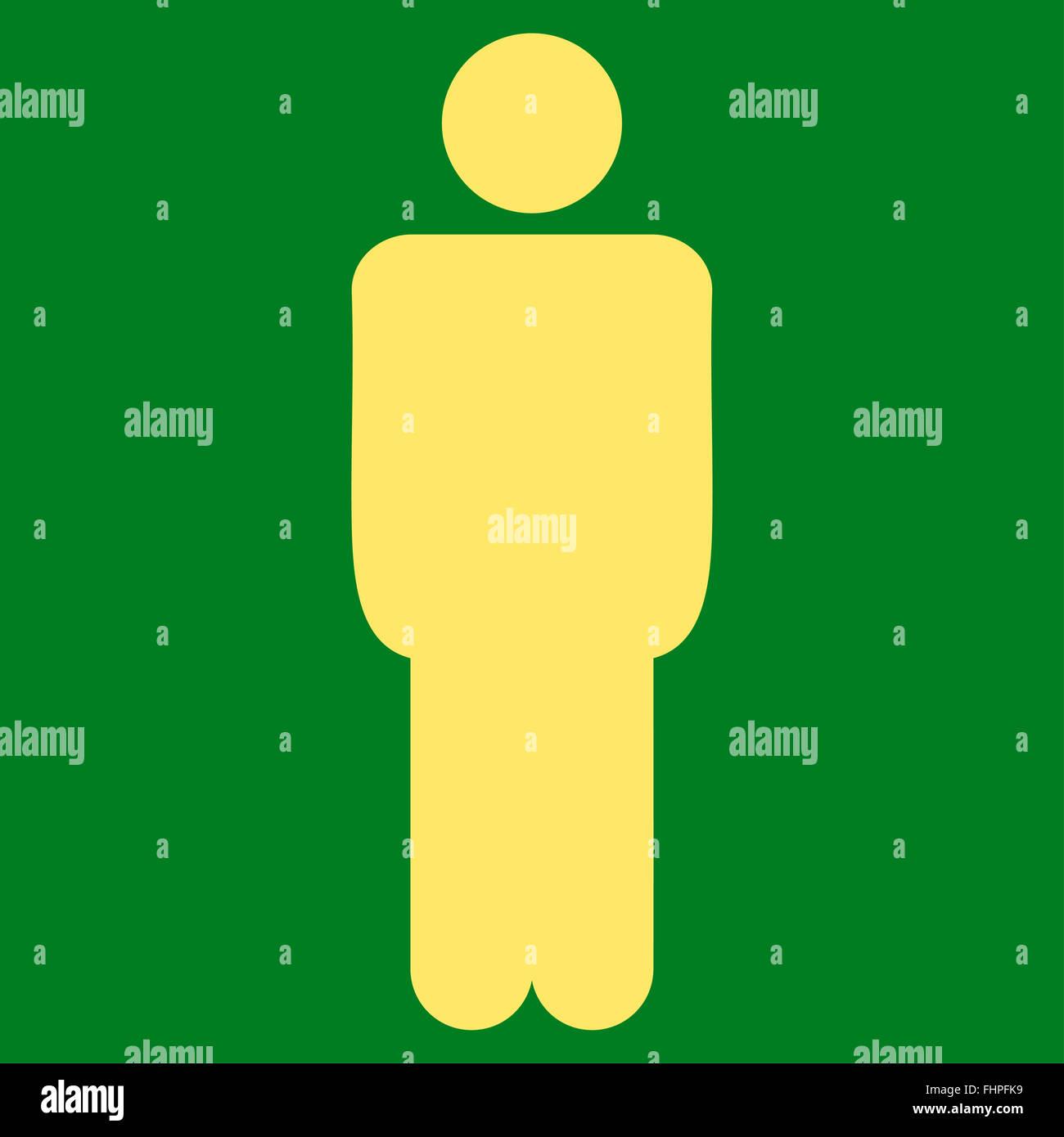 Man Flat Yellow Color Icon Stock Photos & Man Flat Yellow Color Icon ...