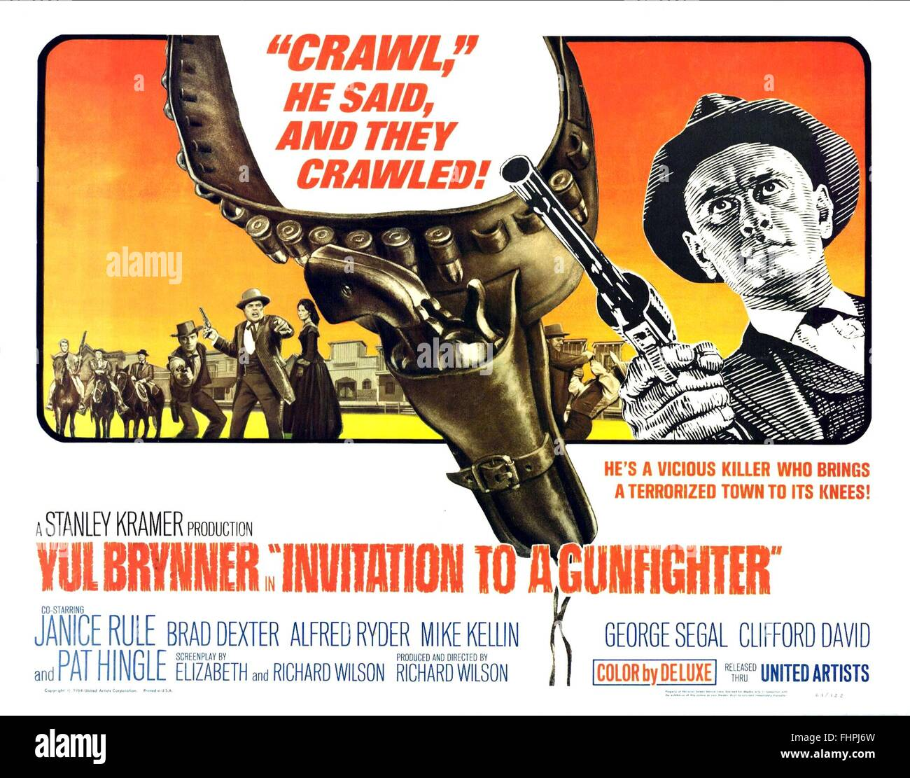 Movie poster invitation to a gunfighter 1964 stock photo 96998241 movie poster invitation to a gunfighter 1964 stopboris Gallery