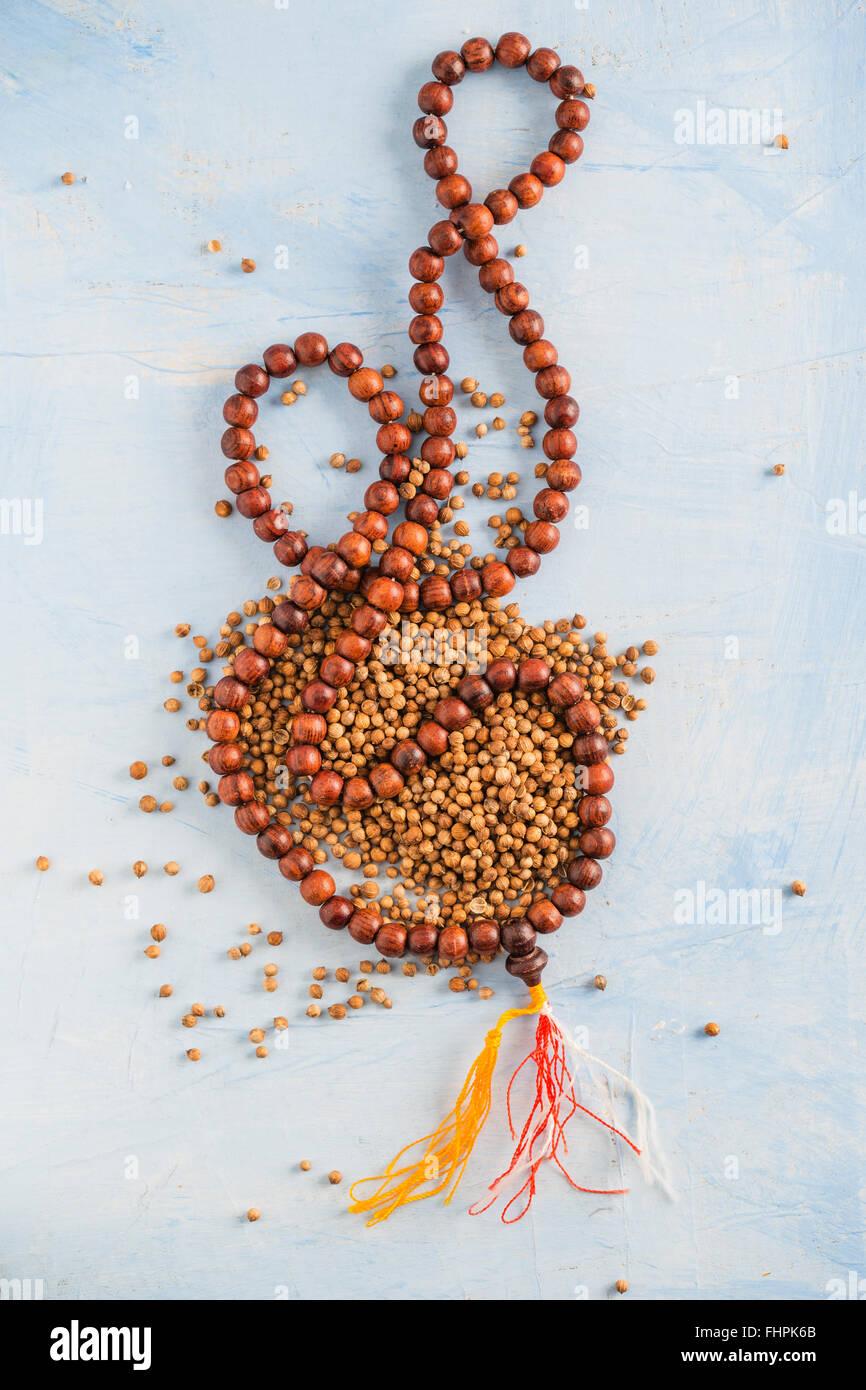 coriander and indian mala - Stock Image