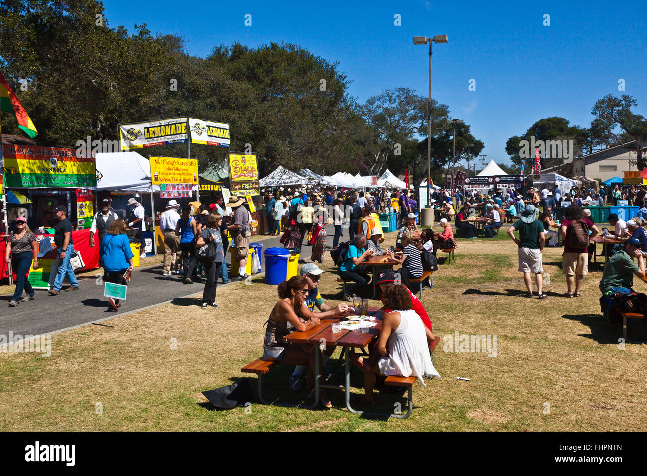 The grounds at at the Monterey Jazz Festival - California