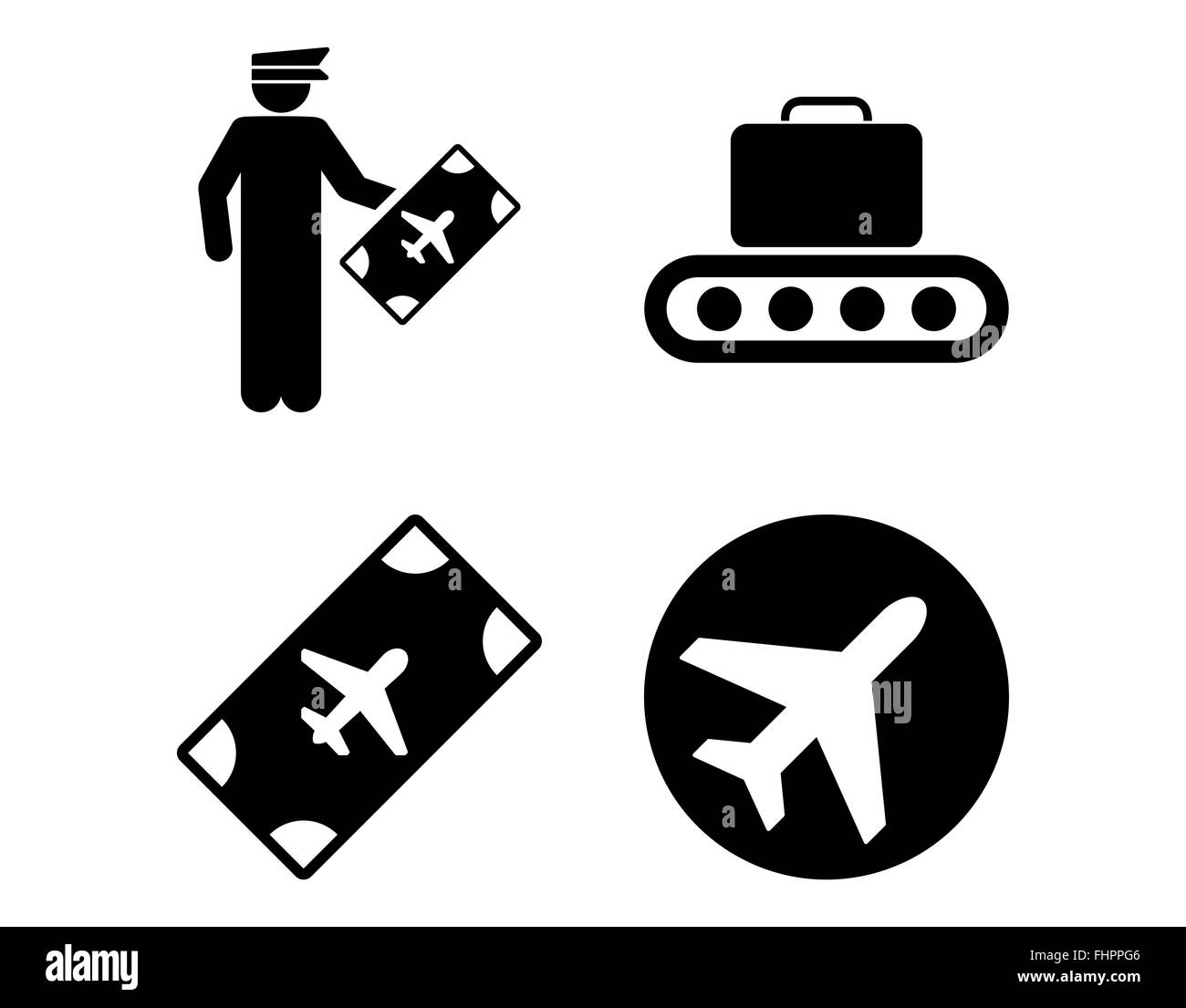 Aviation Icon Set - Stock Image