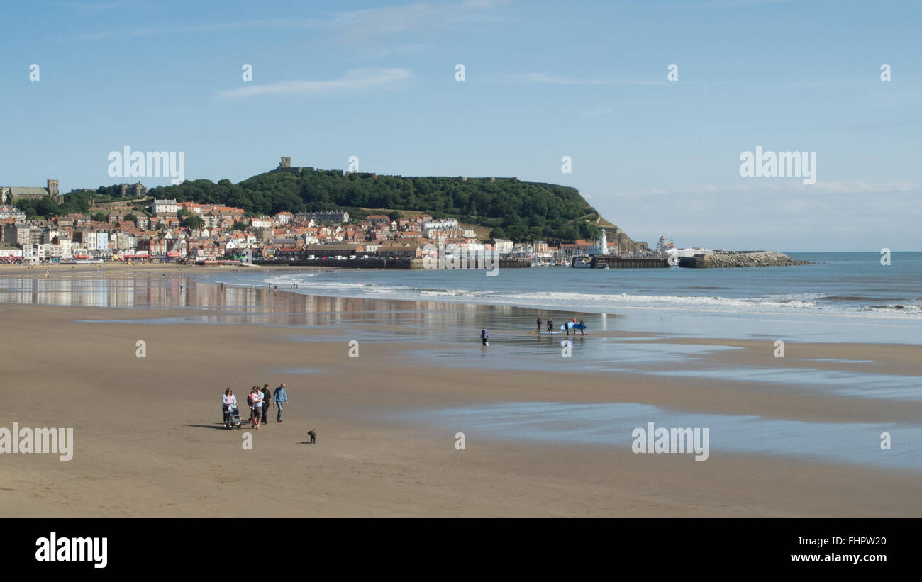 Scarborough beach, Yorkshire UK - Stock Image