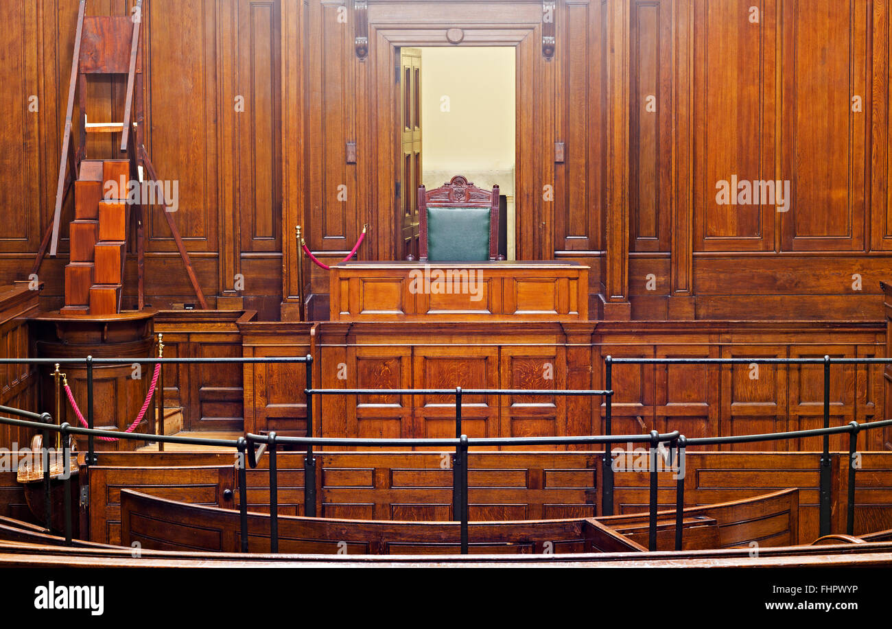 Crown Court Room - Stock Image