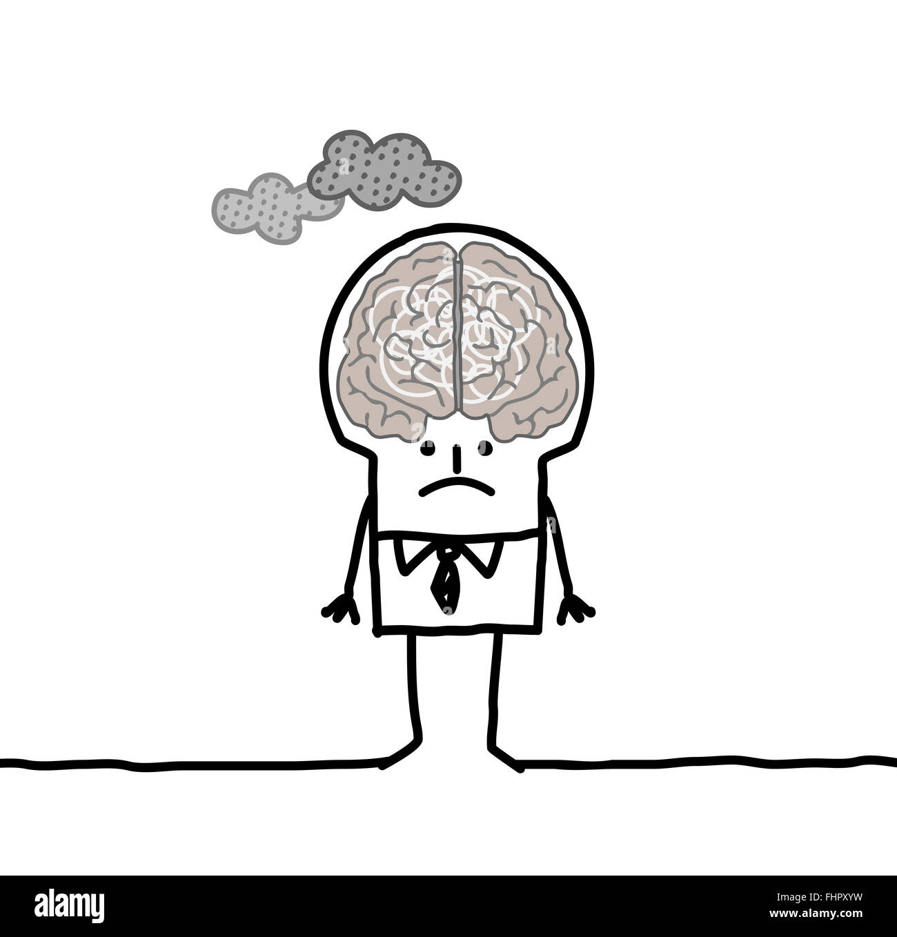 Cartoon big polluted gray brain man stock photo 97005101 alamy cartoon big polluted gray brain man thecheapjerseys Gallery