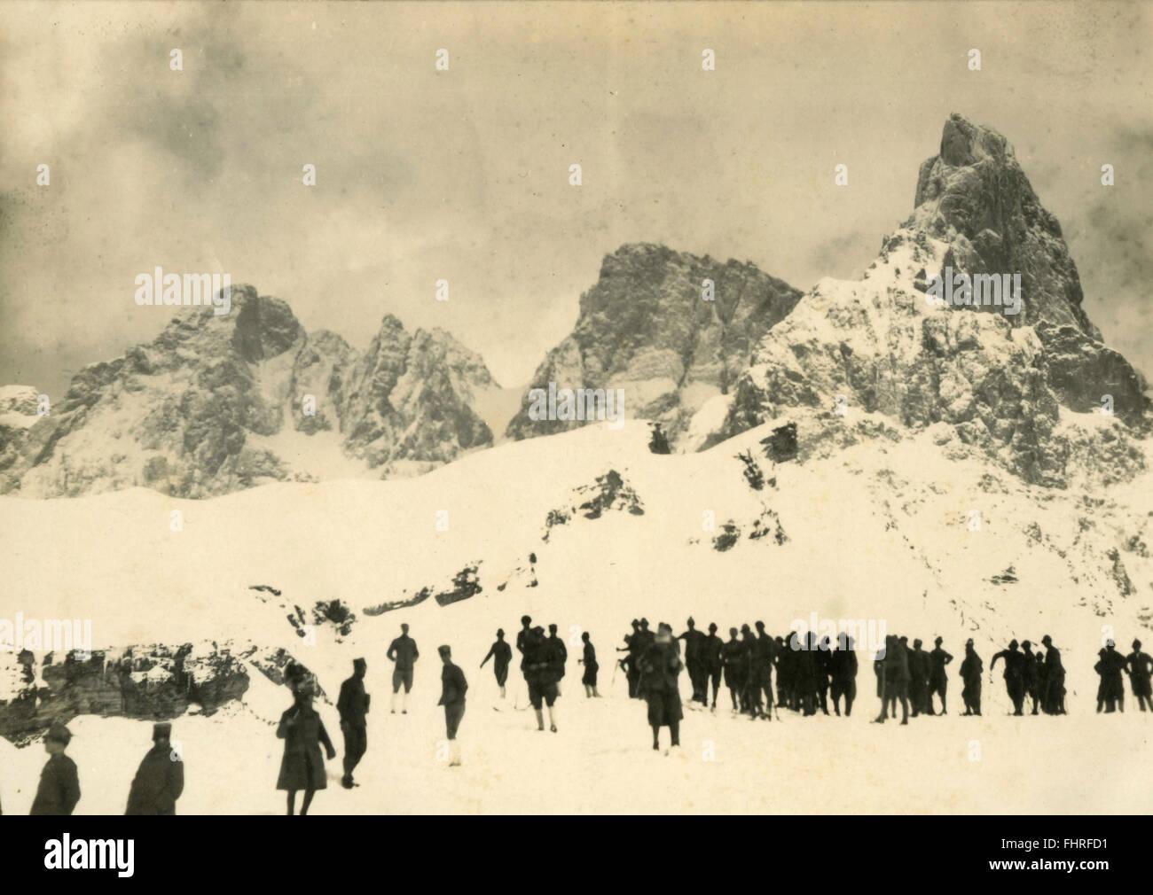 Battalion of Alpini, Italy - Stock Image