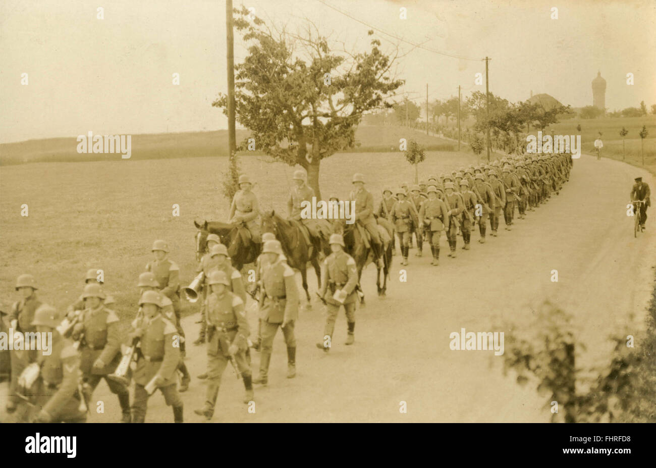 The 3rd and 4th Battalion marching, Germany - Stock Image