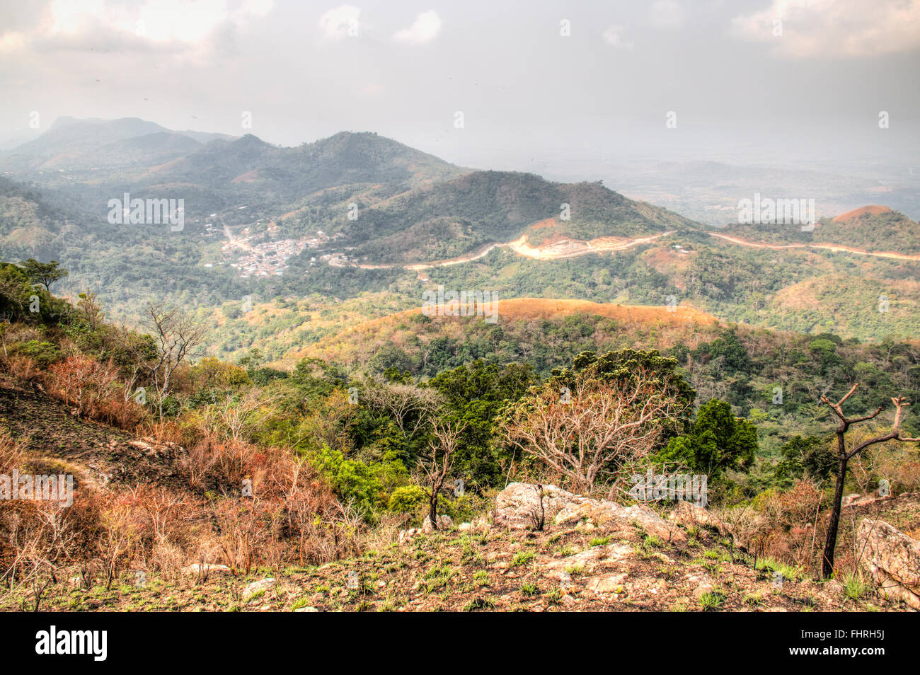 Beautiful landscape in the mountains in Amedzofe in the Volta Region, Ghana - Stock Image