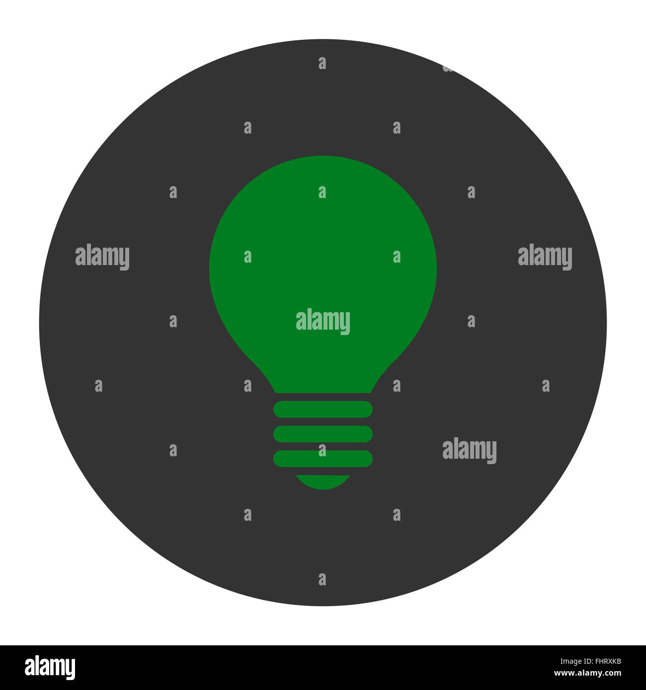 Electric Bulb flat green and gray colors round button Stock Photo ...